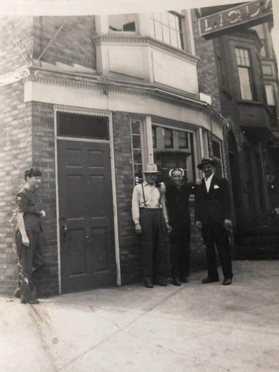 Earliest photo of The Clock Bar, circa 1940. George Dare, second from the left. Courtesy of Sabrina Dare Bledsoe.